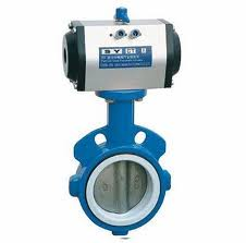 ANSI Pneumatic Wafer Butterfly Valves:DN40-600,EPDM/PDFE Seat