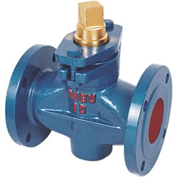 Cast Steel Two-way Plug Valve, Copper Core