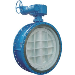 Flange Double Eccentric Soft Seal Butterfly Valve