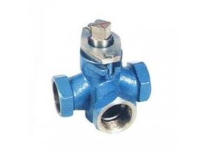 Three-way Internal Thread Plug Valve, Stainless Steel